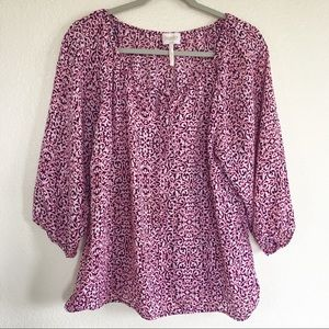 Laundry by Shelli Segal Pink Floral Blouse